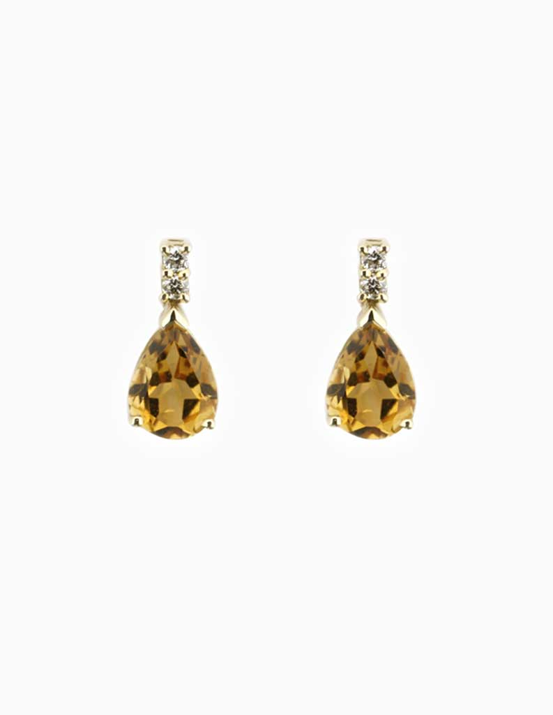 earrings stud citrine all jewellery